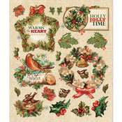 Holly Berries & Wreath Stickers