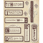 Family Heritage Words Stickers