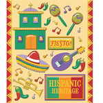 Hispanic Spanish Heritage Stickers