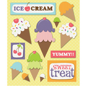 Ice Cream Party Stickers