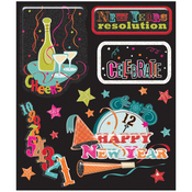 New Years Stickers