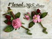 Mauve Rose & Berries Picks Petaloo Canterbury Collection