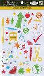 Grade School Glitter Rub-ons By DCWV