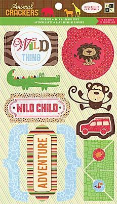 Animal Crackers Glitter Stickers By DCWV
