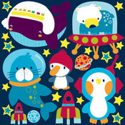 Space Buddies Die-cut Stickers - Reminisce