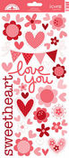Sweet Love Icon Die-cut Stickers - Doodlebug