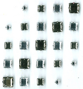 Black & Silver Princess Cut Gems - Jolee's