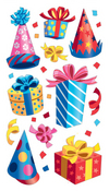 Party Hats & Birthday Presents Sticko Stickers
