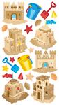 Sandcastles Sticko Stickers