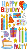 Birthday Party Sticko Stickers