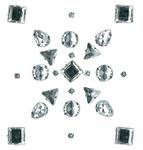 Clear Multi Shape Gems Jolee's Sticker Set