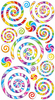 Swirls & Twirls Sticko Stickers