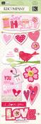 Valentine Stitched Adornments