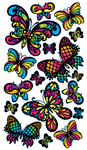 Stained Glass Butterfly Sticko Stickers