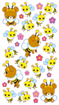 Honey Bear N Bees Sticko Stickers