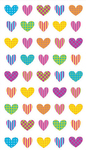 Colorful Heart Repeats Sticko Stickers