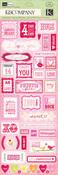 Valentine Embossed Stickers
