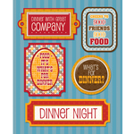 Dinner Night Stickers