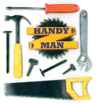 Handy Man Stickers