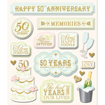 50 Year Anniversary Stickers