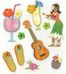 Hula Time Stickers