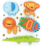 Zoo Animals Dimensional Stickers