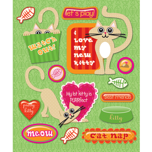 Pet Cat Firsts Stickers
