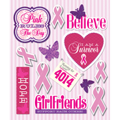 Pink Ribbon Stickers