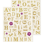 Gold Alpha Stickers