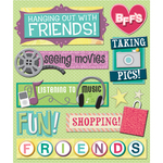 Friends Hanging Out Stickers