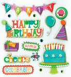 Birthday Wishes Dimensional Stickers