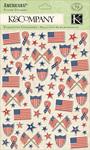 Americana Puffy Stickers