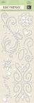 White Swirl Adhesive Gems - K & Company