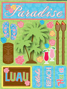 Paradise 3D Stickers