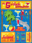 Tropical Party 3D Stickers