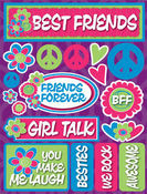 Best Friends Teen 3D Stickers
