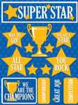 Sports Superstar 3D Stickers