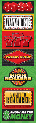 Casino Signs Chipboard Stickers - Reminisce