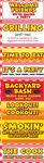Backyard Bash BBQ Picnic Signs Stickers - Reminisce