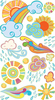 Sun Showers Sticko Stickers