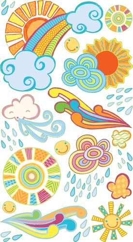 Sun Showers Sticko Stickers