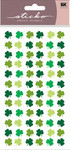 Four Leaf Clover Repeat Sticko Stickers
