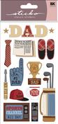 Happy Father's Day Sticko Stickers