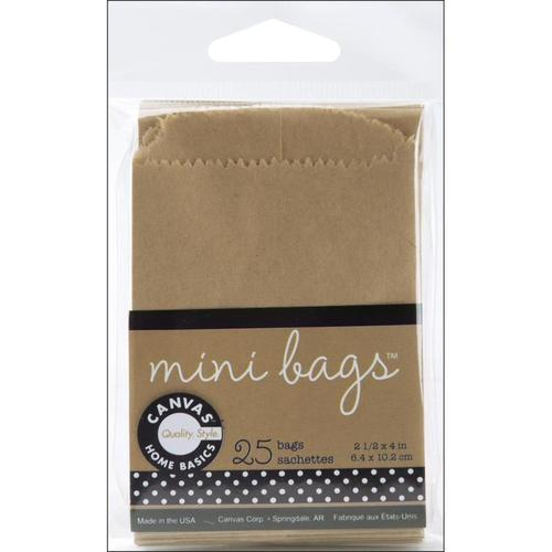 Mini Flat Kraft Colored Bag By Canvas Corp.