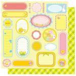 Bunny Tags  - Bunny Love  Glitter Paper