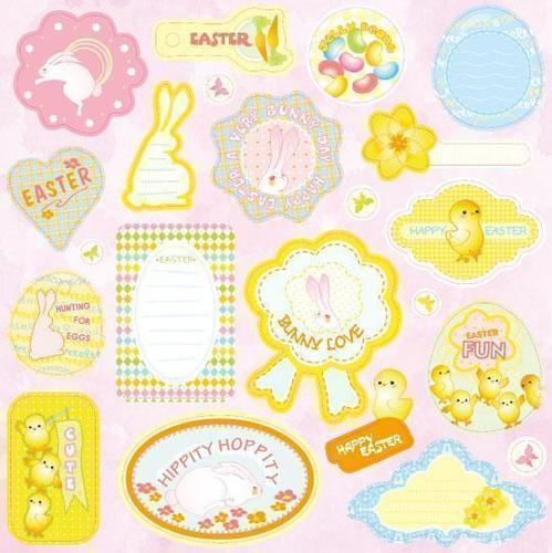 Bunny Love Expressions Chipboard Stickers