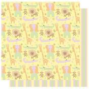 Jungle Friends  - Safari Girl  Glitter Paper