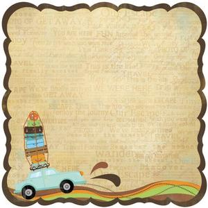 Vacation Getaway Die-cut Paper - Travel Forever By Best Creation