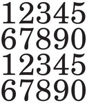 Extra Large Number Stickers - SRM Press