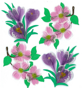Dogwood & Crocus Flowers Stickers - Jolee's Boutique